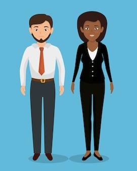 Ikona pracy zespołowej ludzi biznesu
