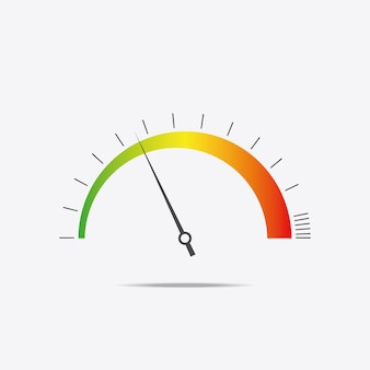 Ikona prędkościomierza. kolorowe infografiki, szybkie wybieranie. ilustracja wektorowa.