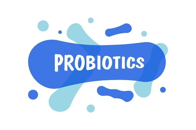 Ikona probiotyków lub molekuły bakterie zdrowe odżywianie składnik do celów terapeutycznych