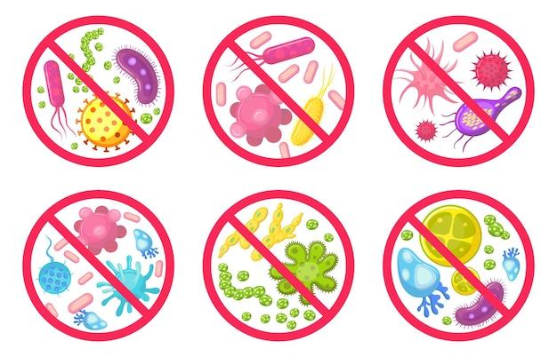 Ikona przeciwwirusowe i przeciwbakteryjne.