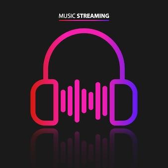 Ikona przesyłania strumieniowego muzyki