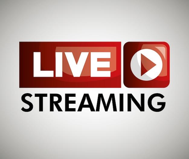 Ikona przycisku na żywo streaming projektu