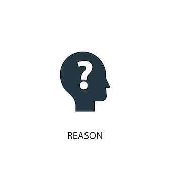 Ikona przyczyny. prosta ilustracja elementu. powód koncepcja symbol projekt. może być używany w sieci i na urządzeniach mobilnych.