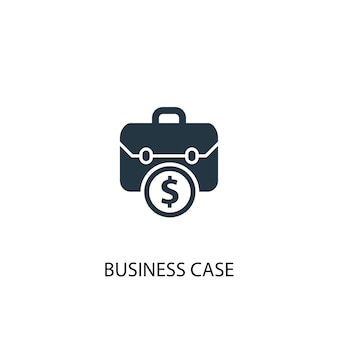 Ikona przypadku biznesowego. prosta ilustracja elementu. biznes koncepcja symbol projekt. może być używany w sieci i na urządzeniach mobilnych.