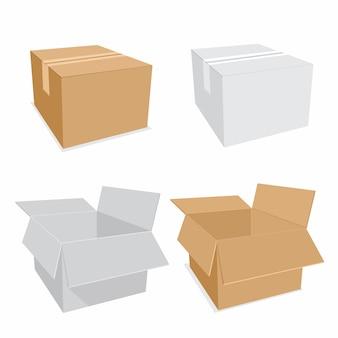 Ikona pudełka papierowego. ilustracja wektorowa