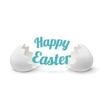 Ikona realistyczne skorupy jaj na białym tle