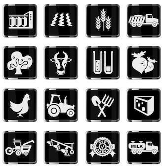 Ikona rolnictwa. po prostu symbol ikon internetowych