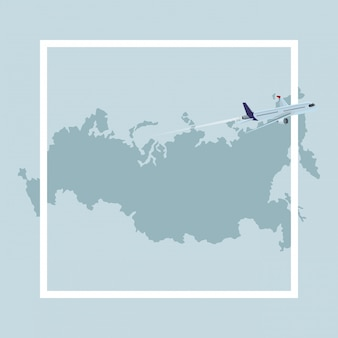 Ikona rosyjskiej mapy