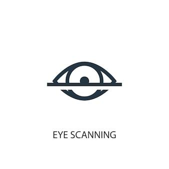 Ikona skanowania oka. prosta ilustracja elementu. projekt symbolu koncepcji skanowania oka. może być używany w sieci i na urządzeniach mobilnych.
