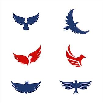 Ikona skrzydła sokoła szablon projektu ilustracji wektorowych