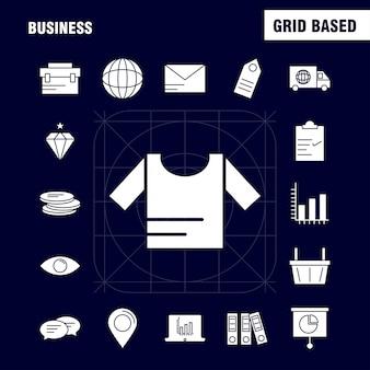 Ikona solidnego glifu biznesowego