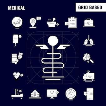 Ikona solidnego glifu medycznego