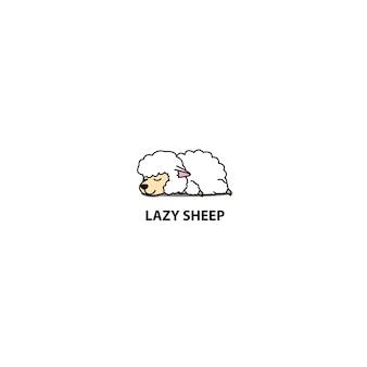 Ikona śpiące Leniwy Owiec Premium Wektorów