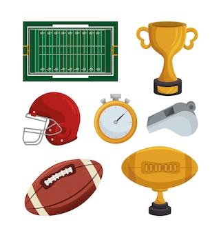 Ikona sport futbolu amerykańskiego