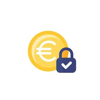 Ikona stałego kosztu z euro