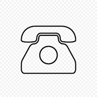 Ikona starego telefonu. symbol retro w stylu vintage