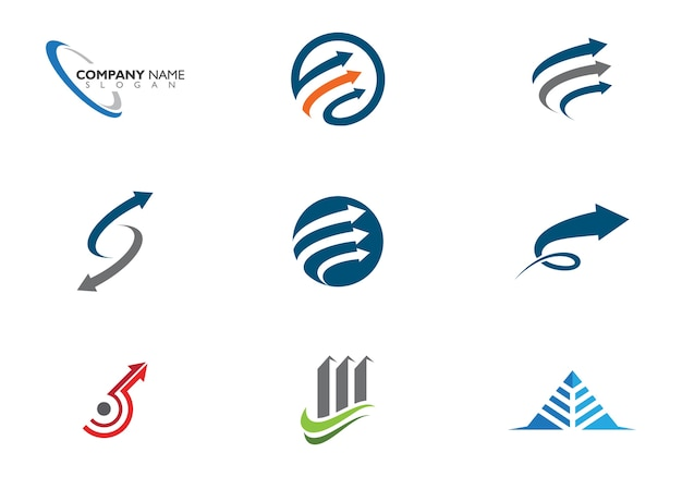 Ikona strzałki ilustracji szablon logo