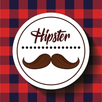 Ikona stylu wąsy hipster