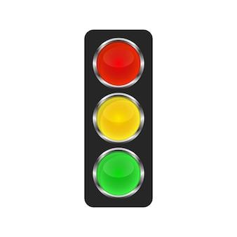 Ikona sygnalizacji świetlnej - wektor.