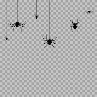 Ikona sylwetka pająka. halloweenowa dekoracja lub tatuaż. prosty szkic wdowy