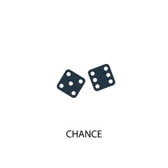 Ikona szansy. prosta ilustracja elementu. projekt symbol koncepcja szansa. może być używany w sieci i na urządzeniach mobilnych.