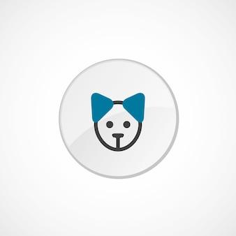 Ikona szczeniaka 2 kolorowa, szara i niebieska, okrągła odznaka