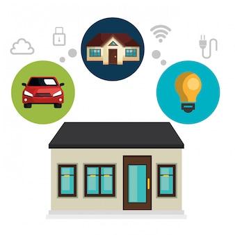Ikona technologii inteligentnego domu