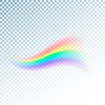 Ikona tęczy. streszczenie kolorowe widmo światła na przezroczystym tle