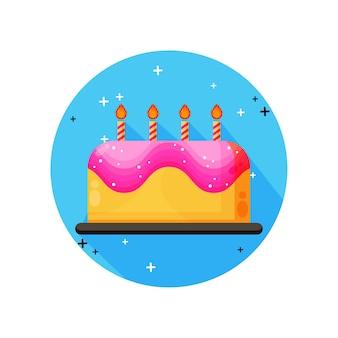 Ikona tort urodzinowy
