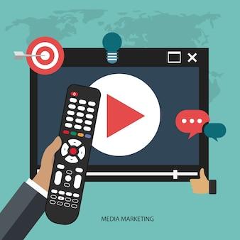 Ikona tv koncepcji