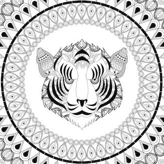 Ikona tygrysa. animal and ornamental predator