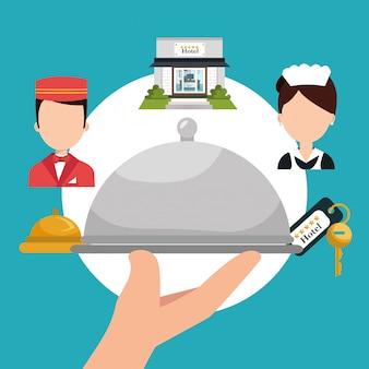 Ikona usług hotelowych