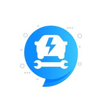 Ikona usługi samochodu elektrycznego, projekt wektor