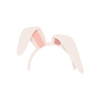 Ikona uszy królika na białym tle