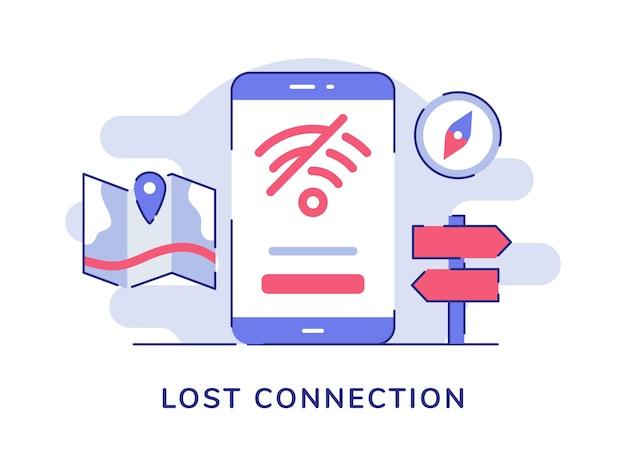 Ikona utraconego połączenia nie znaleziono wifi dostęp do internetu