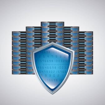Ikona web hosting. projektowanie technologii. grafika wektorowa