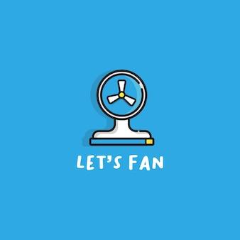 Ikona wektor linii fanów