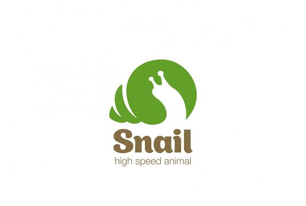 Ikona wektor logo ślimaka logo.