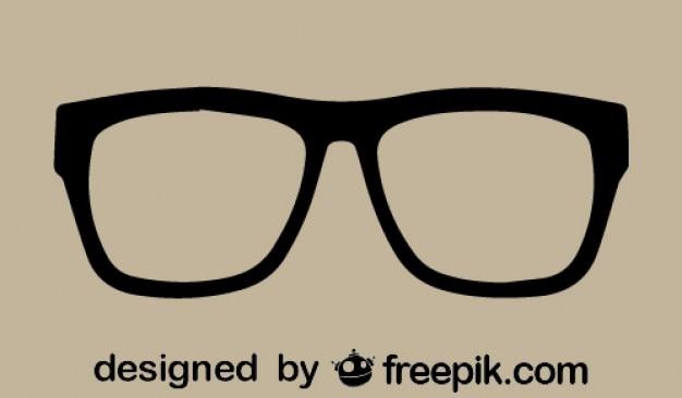 Ikona wektor okulary retro