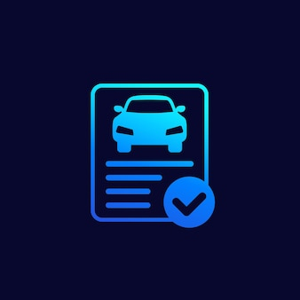 Ikona wektor raportu historii samochodu dla sieci web