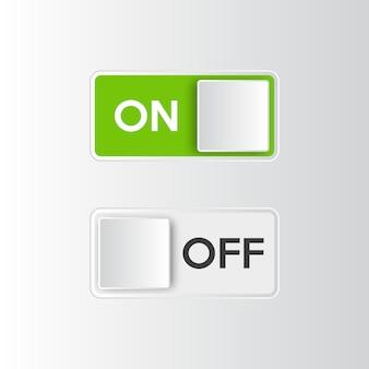 Ikona włącznik i wyłącznik przełącznika.