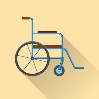 Ikona wózka inwalidzkiego płaska konstrukcja