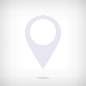 Ikona wskaźnika mapy we wnętrzu. symbol lokalizacji.