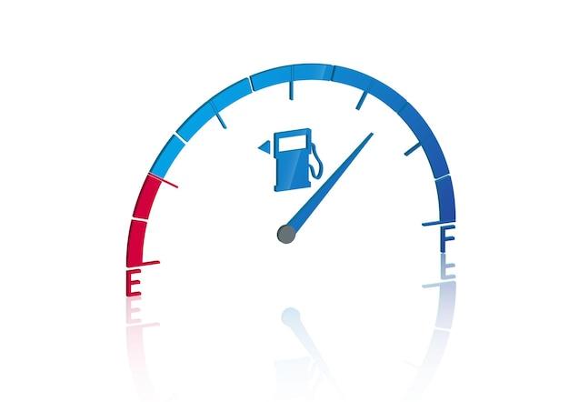 Ikona wskaźnika paliwa w stylu 3d