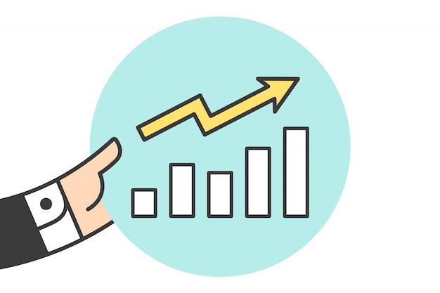 Ikona wykresu wzrostu