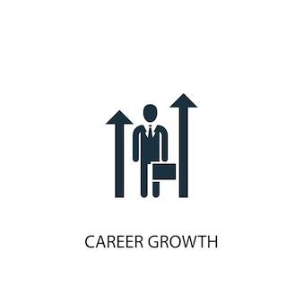 Ikona wzrostu kariery. prosta ilustracja elementu. koncepcja symbol rozwoju kariery. może być używany w sieci i na urządzeniach mobilnych.
