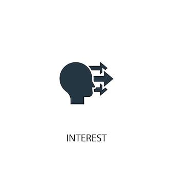 Ikona zainteresowania. prosta ilustracja elementu. interes koncepcja symbol projekt. może być używany w sieci i na urządzeniach mobilnych.