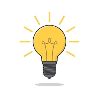 Ikona żarówki ilustracja żarowe lub fluorescencyjne żarówka energooszczędna