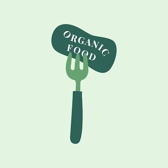 Ikona zdrowej żywności ekologicznej