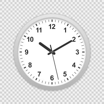 Ikona zegara na ścianie biura.